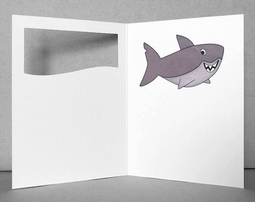 shark thank you card