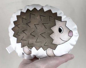small hedgehog plushie