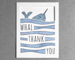 narwhal thank you card