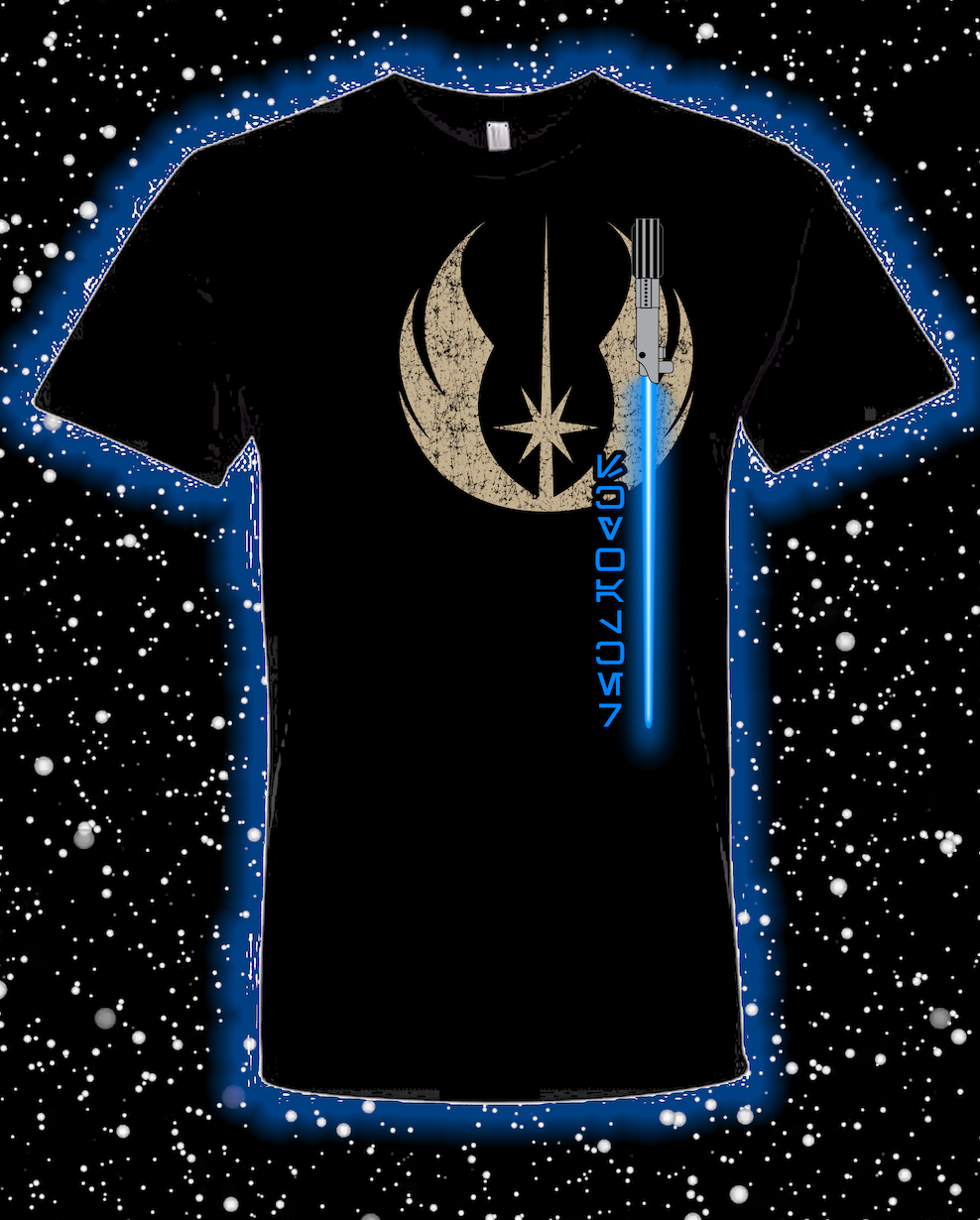 Skywalker Jedi Blue Lightsaber Shirt