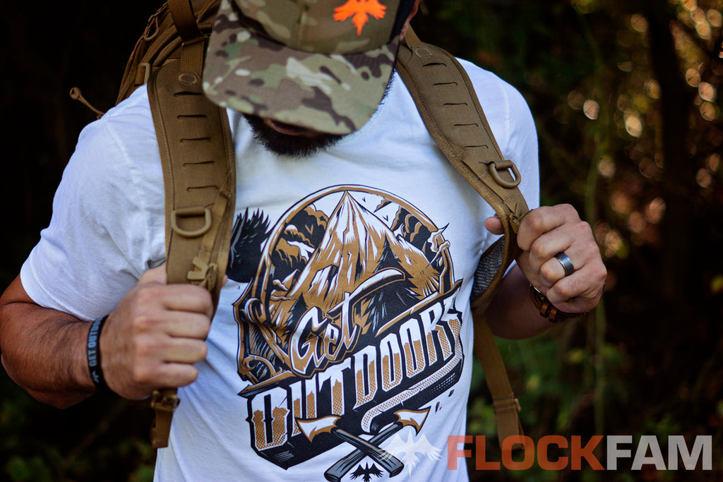 FlockFam Get Outdoors Tee