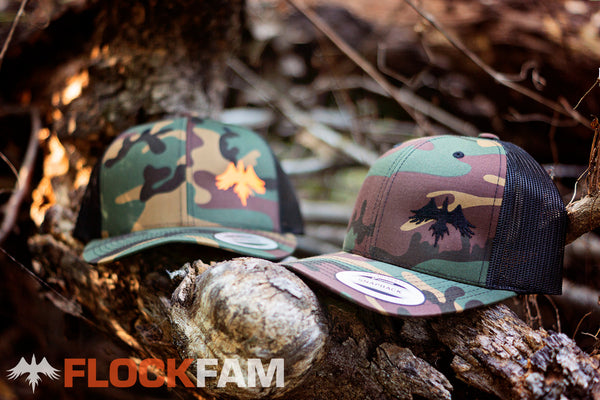 Woodland camo Trucker hats