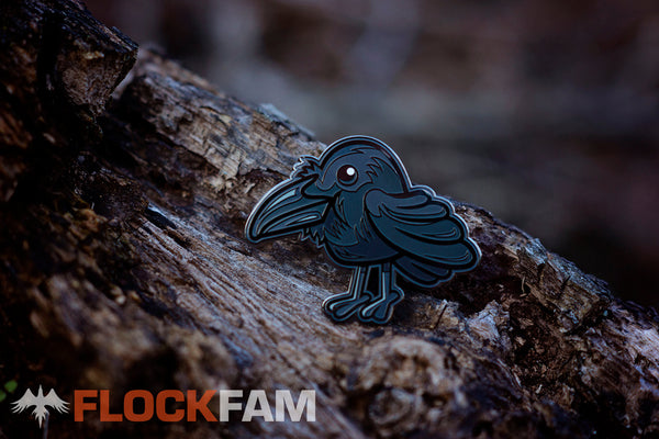 Raylan the Raven v1 enamel pin