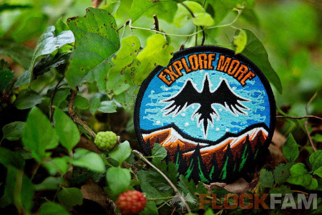 "Destination Zero X FlockFam colab patch ""Explore More"""