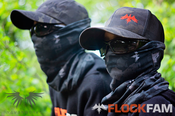 Black FlockCam Neck Gaiter