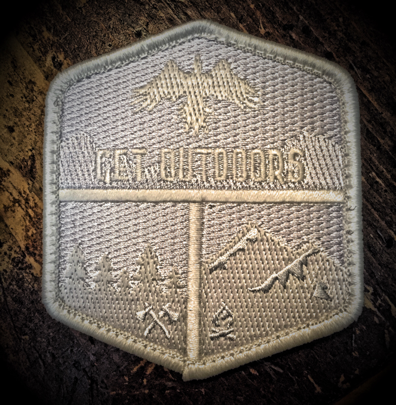 Get Outdoors patch (whiteout)