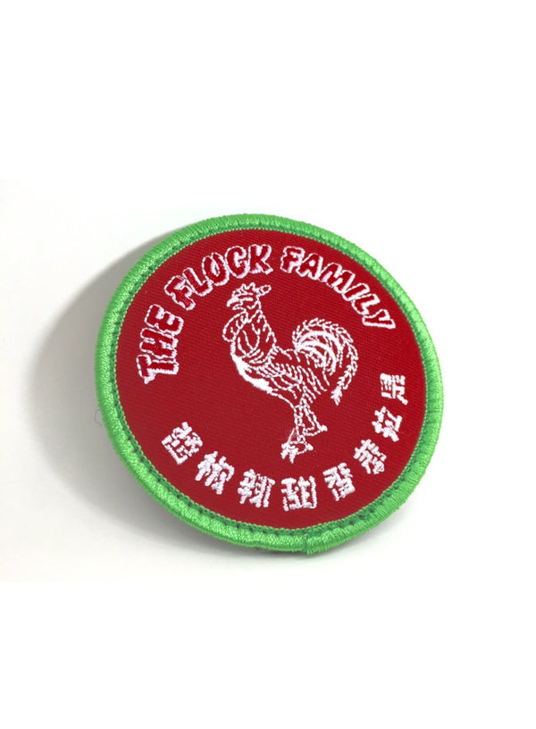 FlockFam Sriracha parody patch