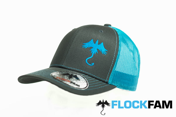 FlockFam Fishing Retro Trucker 2 Tone cap