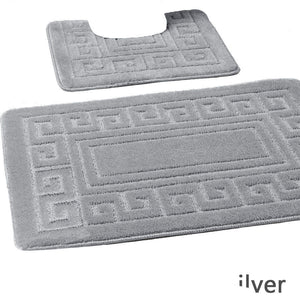 2 Pcs Greek Jacquard Bath Mat Set