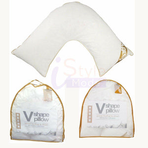 Goose Feather & Down V Shape Pillow