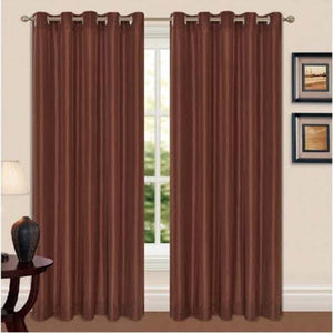 Luxury Thermal Black Out Eyelet Curtain Pair
