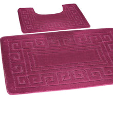 Load image into Gallery viewer, 2 Pcs Greek Jacquard Bath Mat Set
