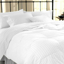 Load image into Gallery viewer, 100% Stripe TC200 Egyptian Cotton Duvet Cover Pillow Set
