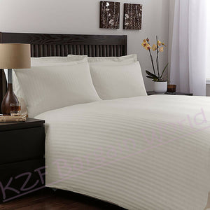 100% Stripe TC200 Egyptian Cotton Duvet Cover Pillow Set