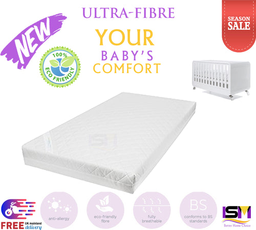 Eco-Friendly Breathable Quilted Fibre Cot Mattress