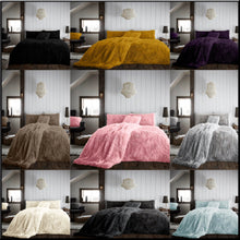 Load image into Gallery viewer, New HUG & SNUG Teddy Fleece Duvet Quilt Cover Pillowcases Set Luxury Soft Warm