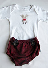 Load image into Gallery viewer, Christmas Bloomer and Baby Grow Set