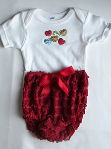 Red Bloomer Sweets Baby Grow Set