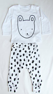 Baby Set: Black and White Bunny