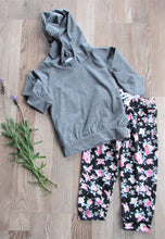 Load image into Gallery viewer, Baby Hoodie set: GREY & FLORAL