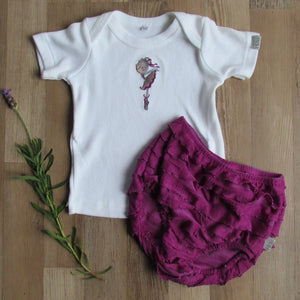 Bright Purple Ballerina Bloomer Vest Set