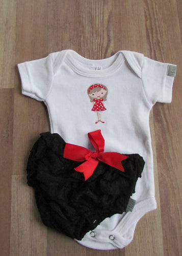 Black Bloomer Baby grow Set