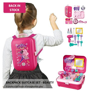 BACKPACK SUITCASE SET - PINK