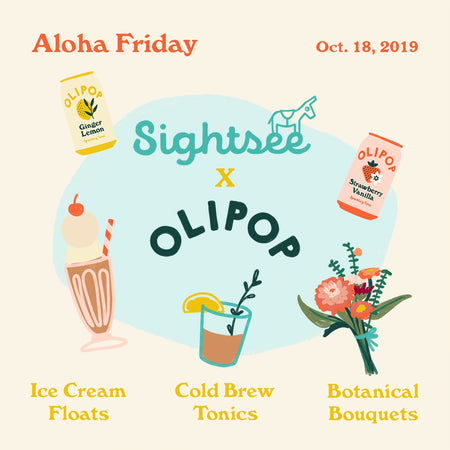 Aloha Friday with OLIPOP on October 18th