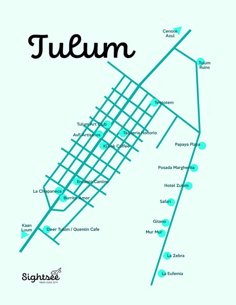 Tulum Travel Guide Map Sightsee
