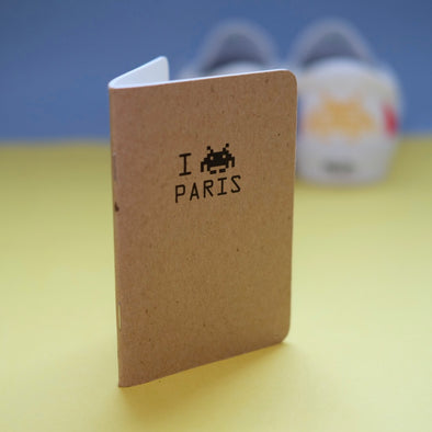 Space Invader Paris Pocket Notebook