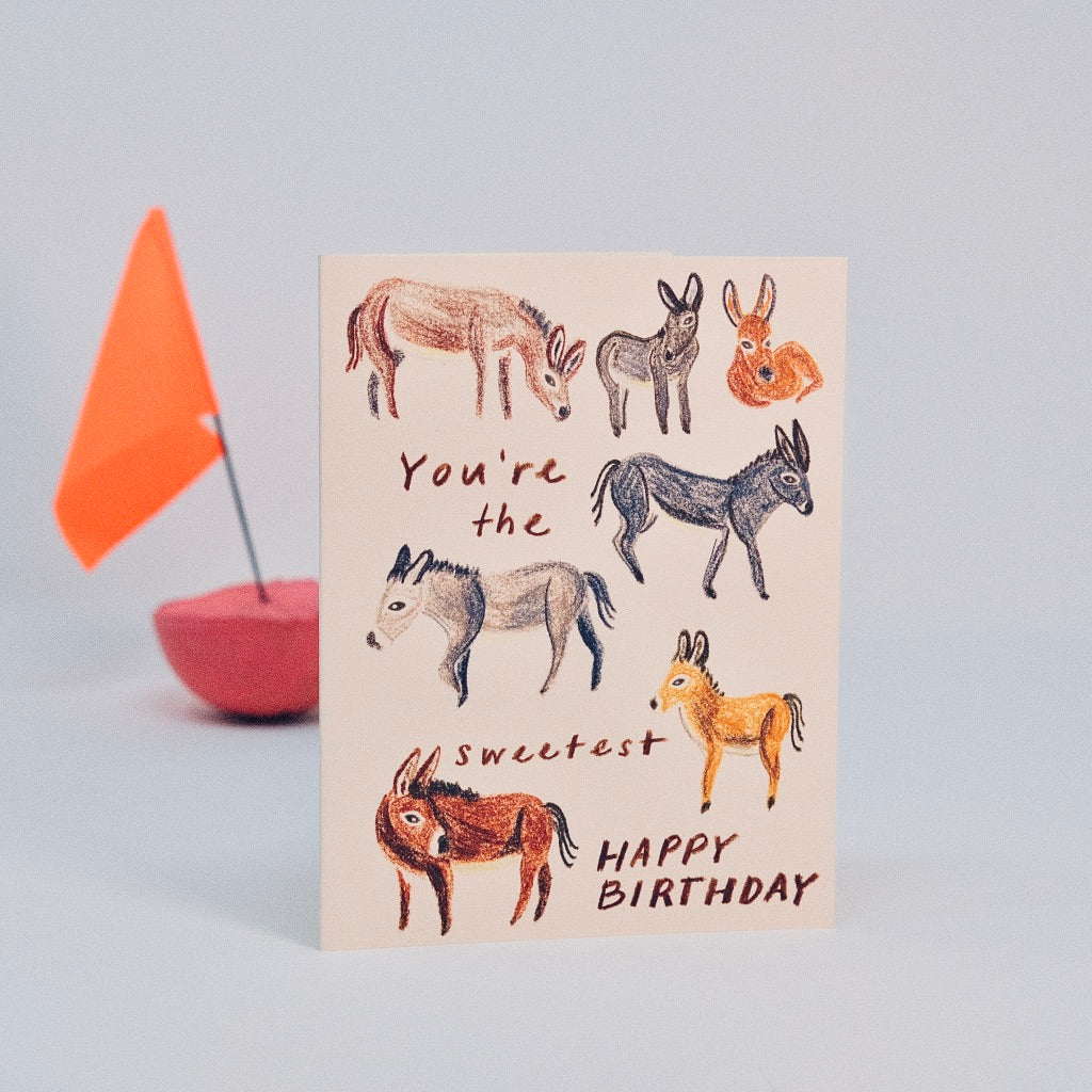 Happy Birthday Burro Card