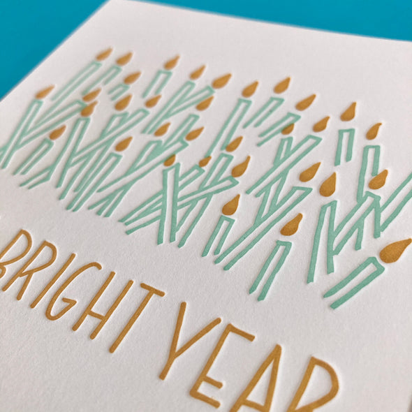 To a Bright Year Birthday Card