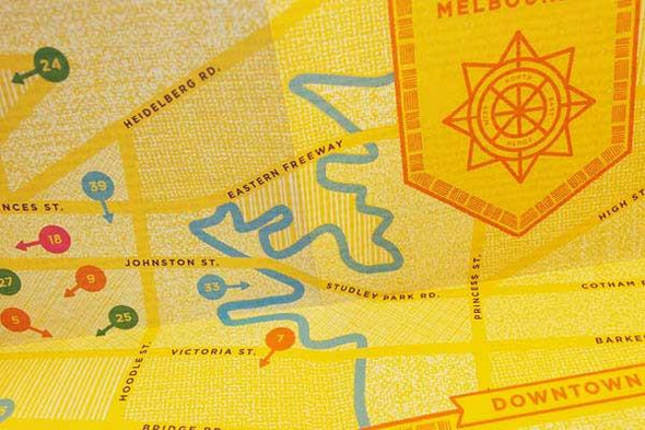 """An Appetite For Melbourne"" City Map"