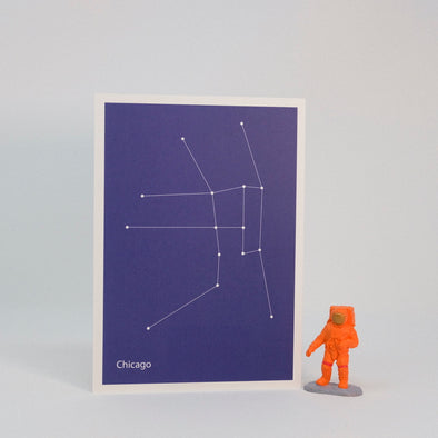 Constellation Map Print:  Chicago