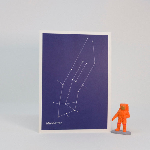 Constellation Map Print:  Manhattan