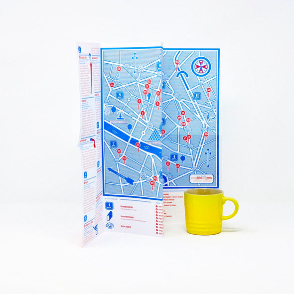 """Paris: Small Shops"" City Map"