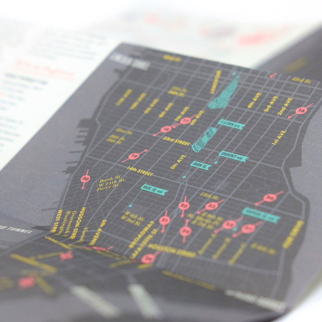 """A Manhattan Bar for All Reasons"" City Map"