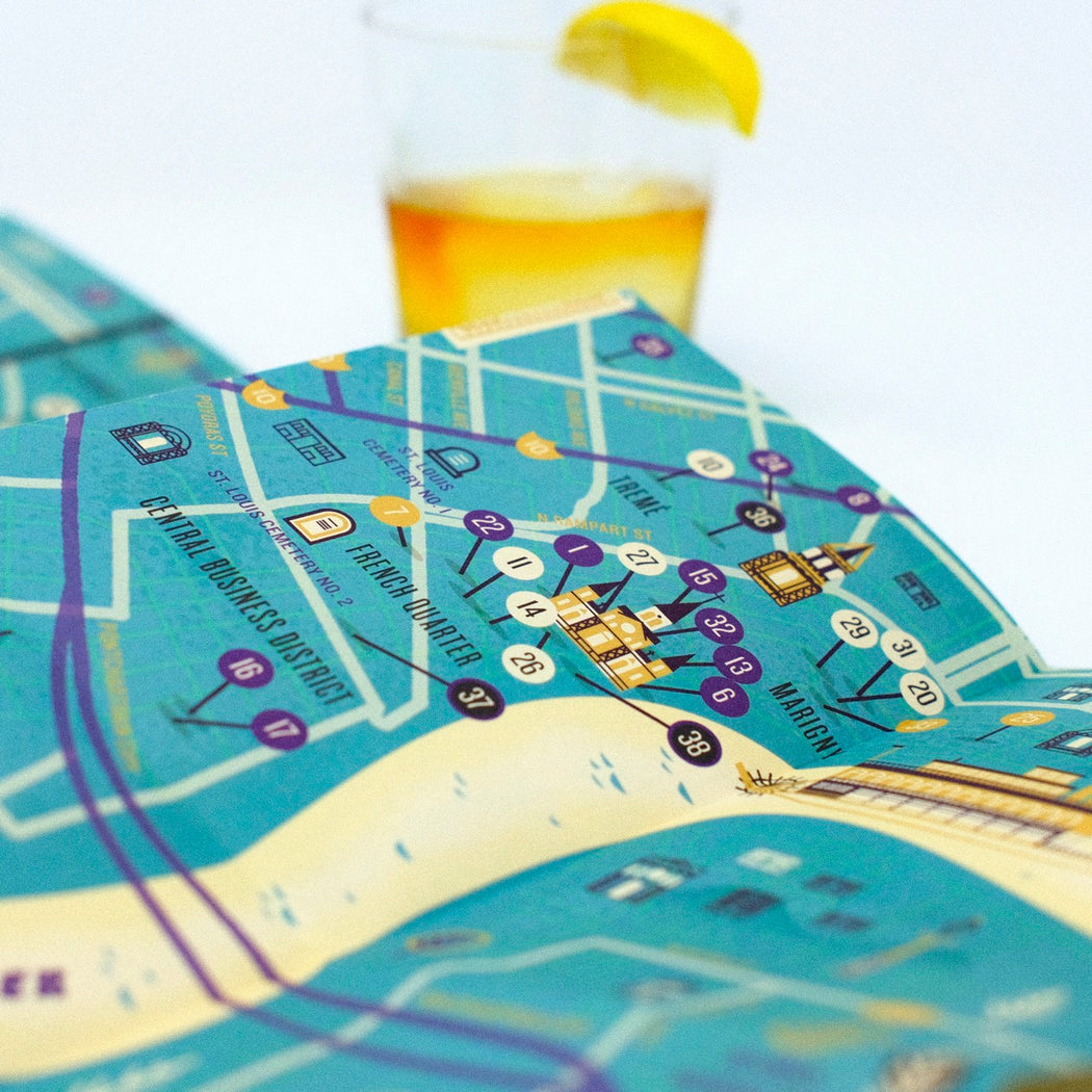 """New Orleans: Good Times"" City Map"