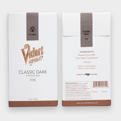 Videri Classic Dark Chocolate Bar 70%