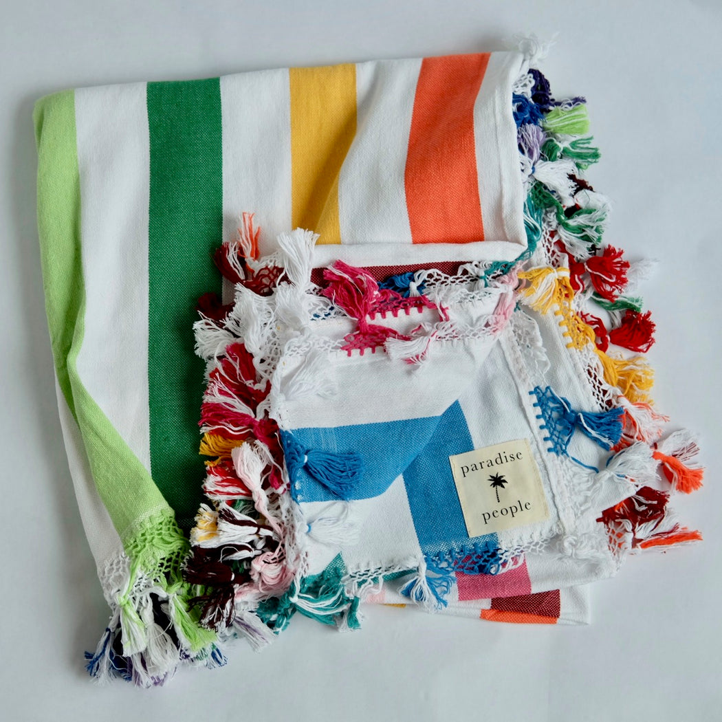Paradise People Rainbow Blanket