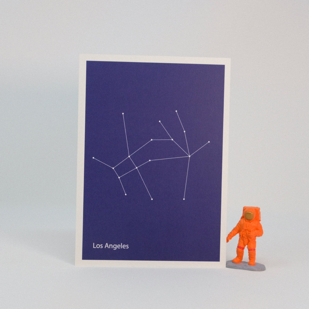 Constellation Map Print:  Los Angeles
