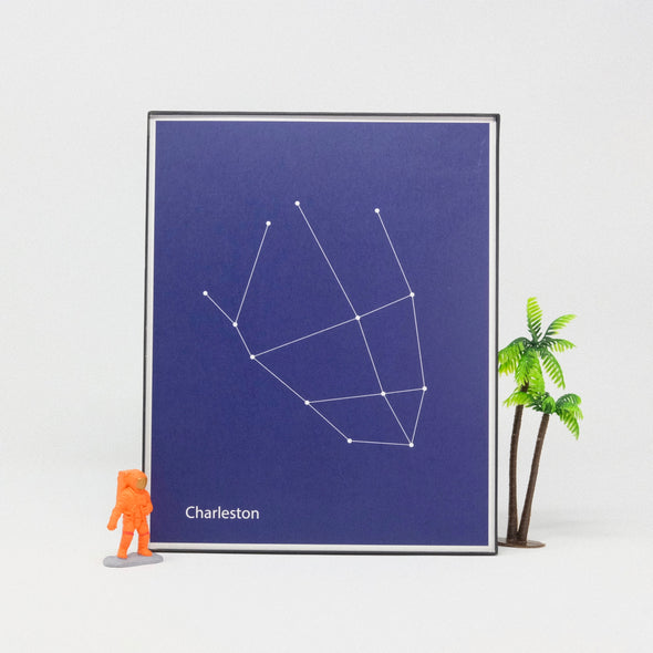 8x10 Constellation Map Print: Charleston