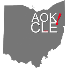 "Load image into Gallery viewer, ""AOK! in the CLE Ohio"" Off The Shoulder Short-sleeve Top"