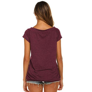 """AOK! in the CLE Ohio"" Off The Shoulder Short-sleeve Top"