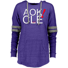 Load image into Gallery viewer, AOK! CLE Ladies Hooded Low Key Pullover