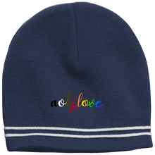 Load image into Gallery viewer, aok2loveall simple striped beanie