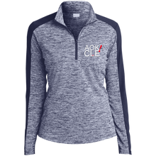 Load image into Gallery viewer, AOK! CLE Ladies' Electric Heather Colorblock 1/4-Zip Pullover