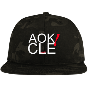 AOK! CLE Flat Bill High-Profile Snapback Hat