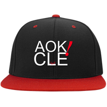 Load image into Gallery viewer, AOK! CLE Flat Bill High-Profile Snapback Hat