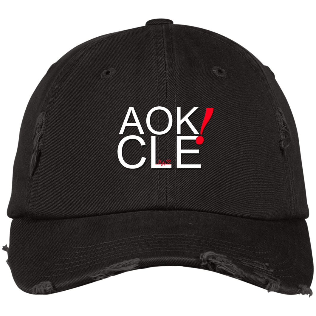AOK! CLE Distressed Cap